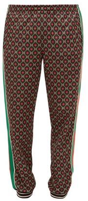 Gucci Gg-print Track Pants - Mens - Black Brown