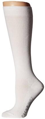 Falke Family Knee Highs (White) Women's Knee High Socks Shoes