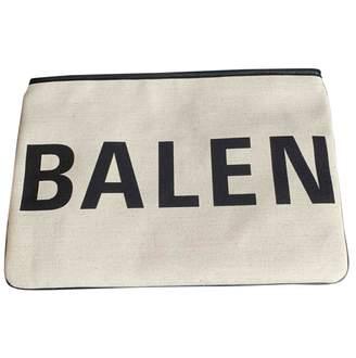 Balenciaga Ecru Cotton Clutch bags
