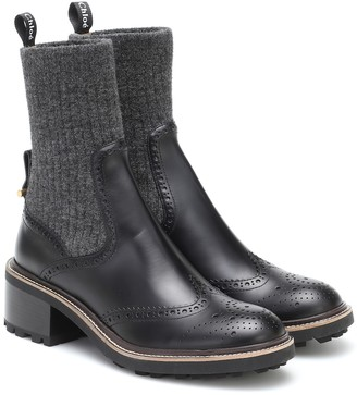 Chloé Franne leather ankle boots