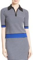 Diane von Furstenberg Women's Spread Collar Knit Shirt