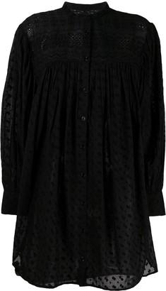 Etoile Isabel Marant Long-Sleeved Midi Shirt Dress
