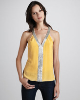 Robert Rodriguez Beaded Silk Tank