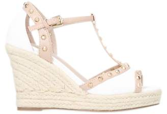 Carvela Stark Wedge Heel Peep Toe Sandals, White