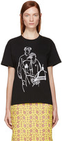 Emilio Pucci Black Embroidered Ice Cream T-Shirt