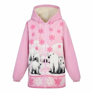 FASHION REVIEW New Women's Lined Hooded Double Fleece Polar Bear