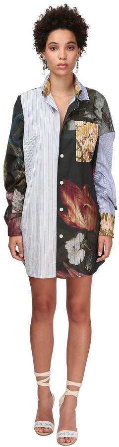 Vivienne Westwood Patchwork Mini Shirt Dress