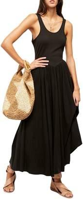 Free People Emily Ruffled Cotton-Blend Midi Dress