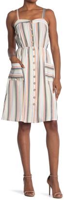 Spirit Of Grace Stripe Button Front Dress