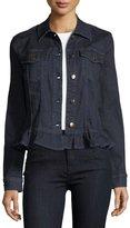 J Brand Slim Denim Jacket W/ Frill, Blue