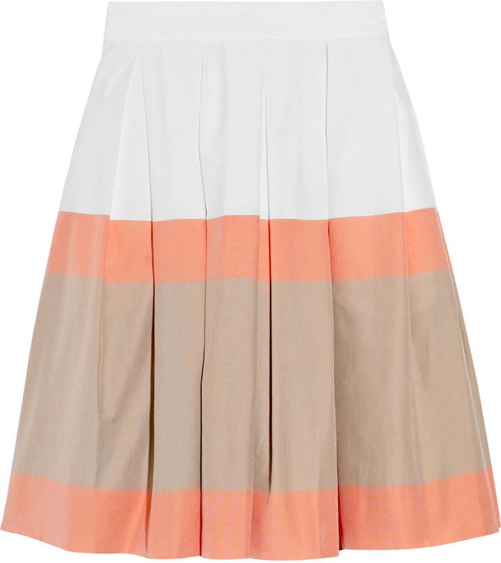 Jonathan Saunders Padbury striped cotton skirt