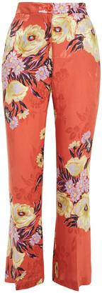 Etro Floral-jacquard Bootcut Pants