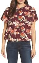 Halogen Layered Floral Top
