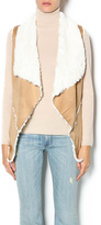 Double Zero Tan Shearling Vest