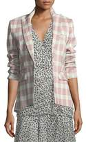 Veronica Beard Khan One-Button Check Blazer