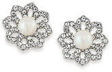 Carolee Icing on the Cake Faux-Pearl & Cubic Zirconia Clip-On Stud Earrings