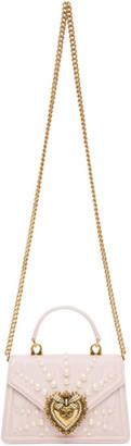 Dolce & Gabbana Pink Small Moire Devotion Bag