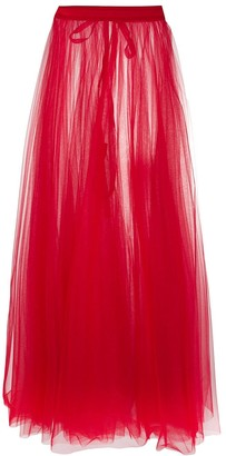Loulou High-Waisted Sheer Maxi Skirt