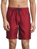 Surfside Supply Co. Volley Geometric Printed Drawstring Board Shorts