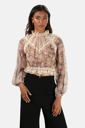 Zimmermann Sabotage Lace Yoke Blouse