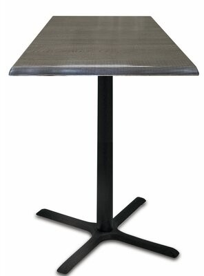 """Manufactured Wooden Bar Table Holland Bar Stool Top Color: Charcoal, Table Size: 30"""" L x 30"""" W"""