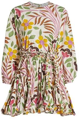 Rhode Resort Ella Floral Belted Cotton Dress