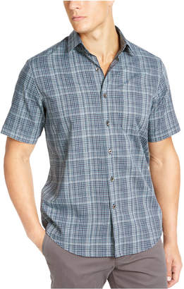 Tasso Elba Men Stretch Dobby Short Sleeve-Woven Shirt