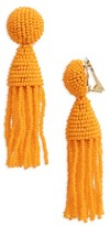 Oscar de la Renta Women's 'Classic Short' Tassel Drop Clip Earrings