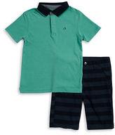 Calvin Klein Jeans Boys 2-7 Little Boys Polo and Striped Shorts Set