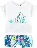 Catimini Graphic T-shirt and printed shorts