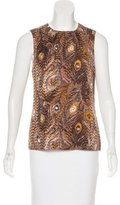 Tory Burch Silk-Blend Printed Top