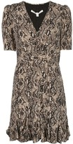 Veronica Beard snakeskin print skater dress