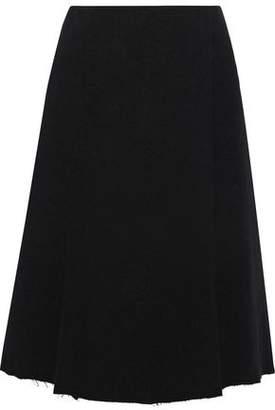 Proenza Schouler Wrap-effect French Cotton-blend Terry Skirt