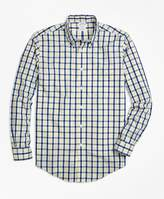 Brooks Brothers Non-Iron Regent Fit Yellow Check Sport Shirt