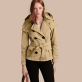 Burberry Showerproof Taffeta Trench Jacket with Detachable Hood