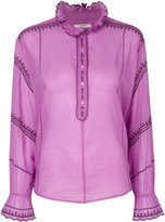 Etoile Isabel Marant ruffled neck blouse - women - Cotton - 38