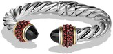 David Yurman Osetra Bracelet with Black Onyx, Garnet and 18K Gold