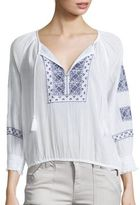 Joie Riccie Embroidered Cotton Blouse