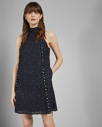 Ted Baker Daisy Lace Halter Dress