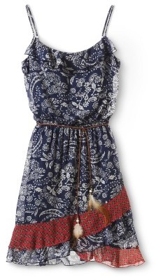 Lots of Love Floral Tiered Dress Navy by Speechless