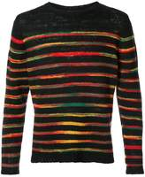 The Elder Statesman striped crew neck jumper