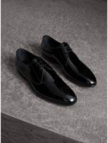 Burberry Broguing Detail Polished Leather Derby Shoes , Size: 46, Black