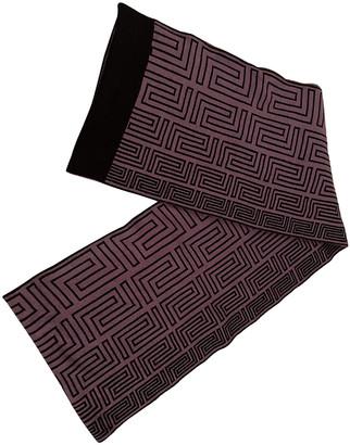 Versace Purple Wool Scarves & pocket squares