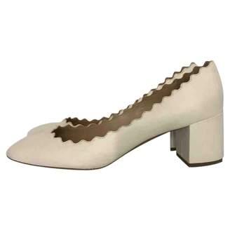 Chloé \N White Leather Heels
