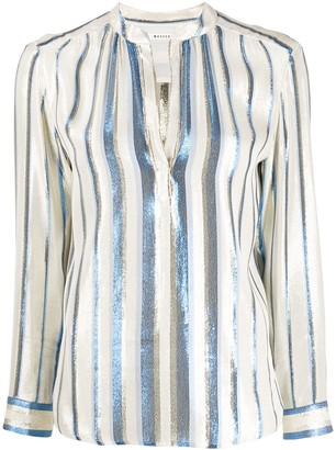Masscob Tukker metallic striped print blouse