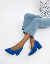 Qupid Block Heel Pointed Shoes