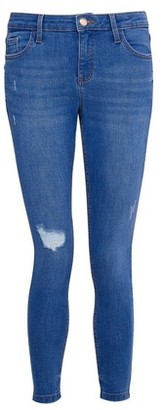 Dorothy Perkins Womens Dp Petite Bright Blue 'Darcy' Denim Jeans With Organic Cotton, Blue