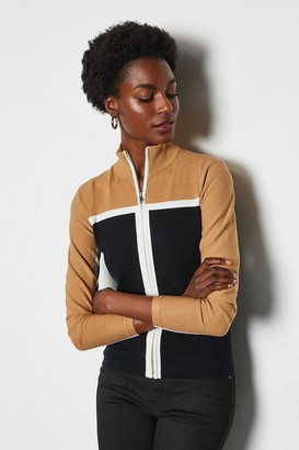 Karen Millen Colourblock Sporty Cardigan