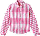 Joe Fresh Kid Girls' Check Shirt, Pink (Size XL)