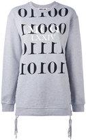 McQ by Alexander McQueen binary sweatshirt - women - Cotton - XS